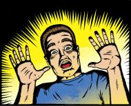 3585694-Scared-man-in-old-comic-book-style--Stock-Vector